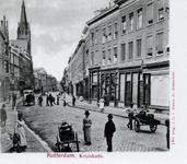 PBK-267 Kruiskade met links de Nederlandse Hervormde Westerkerk, verder verscheidene materiële zaken met de voor het ...