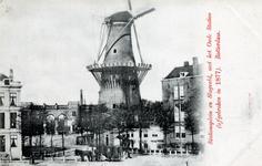 PBK-273 Gezicht op het het station van de Holland IJzeren Spoorwegmaatschapij aan het Stationsplein en het Slagveld.