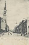 PBK-2771 De Havenstraat met links de Sint-Anthonius Abtkerk en rechts het torentje van het nog bestaande herenhuis ...