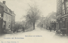 PBK-2774 Het punt waar de Nieuwe Binnenweg op de Havenstraat uitkomt. Geheel rechts is het begin van de Voorstraat. ...
