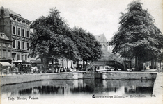 PBK-280 Ten oosten van de Rotte heette de stadsvest Pompenburgsingel. Een sluisje met hoge brug, die de verbinding ...