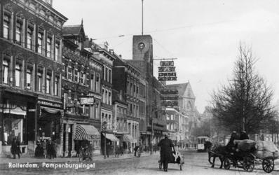 PBK-281 Pompenburgsingel met het Grand Theatre. Abraham Tuschinski stichtte hier Rotterdams eerste avant-gardebioscoop ...