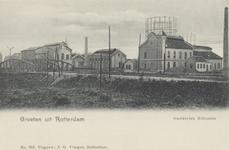 PBK-2857 De gasfabriek aan de Korte Feijenoorddijk (de verbindingsweg tussen de Persoonshaven en de Oranjeboomstraat, ...