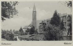 PBK-2862 Hillevliet uit het zuidoosten gezien. Rechts panden en de Maranathakerk.