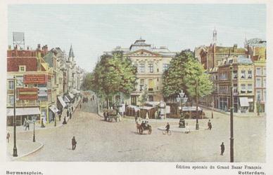 PBK-3019 Van Hogendorpsplein. Op de achtergrond het Schielandshuis met links de Boijmansstraat en rechts de Grote ...
