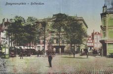 PBK-3021 Gezicht op het Van Hogendorpsplein. Op de achtergrond het Museum Boymans, gezien uit het westen.