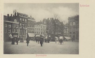PBK-3041 Gezicht op het Van Hogendorpsplein, uit het westen. Rechts Museum Boymans. Links panden aan de Boijmansstraat ...