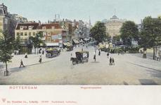 PBK-3043 Inkijk op de Boijmansstraat. Rechts het Van Hogendorpsplein met het Schielandshuis en de bloemenmarkt, gezien ...