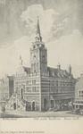 PBK-3100 De voorzijde van het Stadhuis aan de Hoogstraat, na de verbouwing in 1607.
