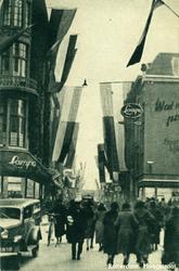 PBK-3121 Hoogstraat, uit het westen gezien. Links het Spui en rechts de Vlasmarkt.