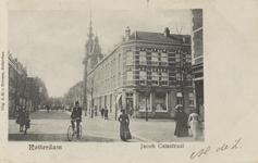 PBK-3192 Jacob Catsstraat, gezien uit het noorden. Op de voorgrond rechts de Zwart Janstraat, verderop de Nederlandse ...