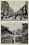 PBK-3249 Prentbriefkaart met twee afbeeldingen: Afbeelding boven: Jonker Fransstraat van de Goudsesingel af, uit het ...