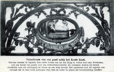 PBK-328 Het 18e eeuwse houten bovenlicht van café -Het paard in de wieg- aan de oostzijde van Rodezand nummer 20.