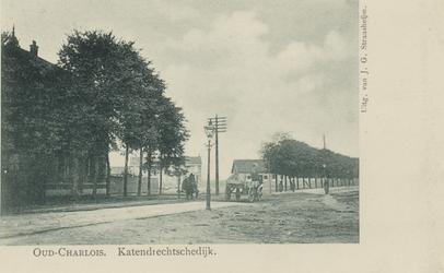 PBK-3289 Katendrechtse Lagedijk. Links het huis met de werf van directeur Rijkee, rechts daarvan de Scheepsbouwersstraat.