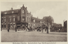 PBK-3314 Katendrechtse Lagedijk vanaf de Boergoensestraat (op de voorgrond). Vanuit het noordwesten.