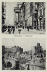PBK-3341 Twee afbeeldingen op één prentbriefkaart:Boven: Kaasmarkt met van opzij gezien het stadhuis, vanaf de Gedempte ...