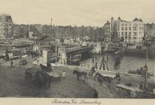 PBK-3475 Bolwerk vanuit het zuidwesten. In het midden de Koningsbrug over de Oudehaven. Op de achtergrond het ...