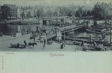 PBK-3479 De Koningsbrug, uit het westen, vanaf het Bolwerk . Op de achtergrond links de Spanjaardsbrug over het ...