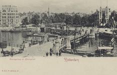 PBK-3481 De Koningsbrug over de Oudehaven, uit het zuidwesten, vanaf het Bolwerk. Links op de achtergrond de ...