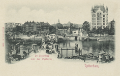 PBK-3502 Koningsbrug over de Oudehaven, uit het oosten. Op de achtergrond links het Bolwerk, de jan Kuitenbrug en ...