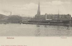 PBK-3516 de Koningshavenmet de Koninginnebrug en de spoorbrug. Op de achtergrond links de toren van de rooms-katholieke ...