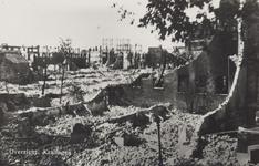 PBK-3624 Gezicht op de door het Duitse bombardement van 14 mei 1940 getroffen gebied tussen de Oudedijk en de ...