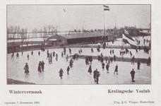 PBK-3649 Mensen op de baan van de IJsclub Kralingen aan de Kralingse Plaslaan.