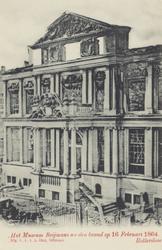 PBK-3685 Museum Boijmans aan de Korte Hoogstraat na de brand in de nacht van 15 op 16 februari 1864, uit het noordoosten.