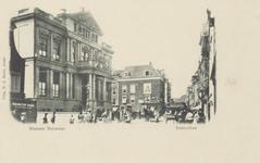 PBK-3707 Korte Hoogstraat met links museum Boijmans, en daarachter de Boijmansstraat, ver op de achtergrond rechts een ...
