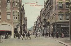 PBK-3728 Korte Hoogstraat, vanuit het zuiden. Links de Boijmansstraat en rechts de Soetensteeg. Op de achtergrond de ...