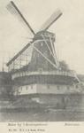 PBK-3758 Oliemolen De Liefde aan de Schaardijk, vanaf de Nieuwe Maas, uit het zuidoosten. De molen is afgebroken in het ...