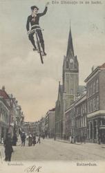 PBK-3773 De zuidzijde van de Kruiskade met de Westerkerk. Rechts de Nadorststraat, uit het westen.