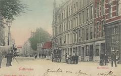 PBK-3800 Kruisstraat met rechts de ingang van de Rotterdamsche Diergaarde. Links de Diergaardelaan die recht tegenover ...