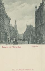 PBK-3809 Kruisstraat met rechts de ingang van de Rotterdamsche Diergaarde, links de Diergaardelaan. Op de achtergrond ...