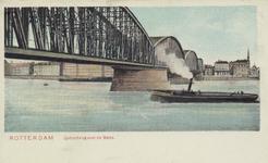 PBK-4075 De spoorbrug over de Nieuwe Maas, gezien uit het noordwesten.