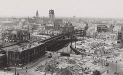 PBK-422 Overzicht van de door het Duitse bombardement van 14 mei 1940 getroffen wijde omgeving van de Kolk, uit het ...