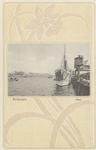 PBK-4296 Stoomschip Soerabaja ligt aangemeerd aan het zuidelijke gedeelte van de Wilhelminakade. Tevens zichtbaar het ...