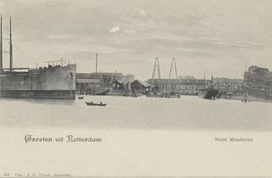PBK-4423 Schip ter hoogte van een scheepswerf in de Maashaven.