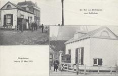 PBK-4572 Twee afbeeldingen van de Mathenesserdijk bij de Tol van Delfshaven naar Schiedam op één prentbriefkaart. Op ...