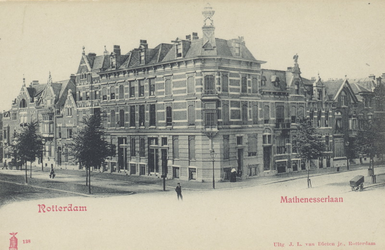 PBK-4580 Panden aan de Mathenesserlaan, hoek 's Gravendijkwal.