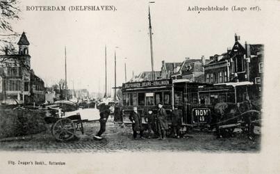 PBK-47 Een tweetal paardenomnibussen van de omnibuslijn Delfshaven - Kralingen in 1899 opgericht door de Rotterdamsche ...