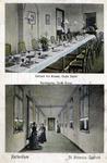 PBK-4778 Prentbriefkaart met twee afbeeldingen van het interieur van het Sint-Antonius Gesticht aan de Nieuwe ...
