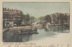 PBK-4827 Oudehaven met links de Mosseltrap, rechts de Spaansekade, vanuit het westen. Op de achtergrond de Nieuwehaven.