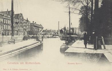 PBK-4832 Nieuwehaven, vanuit het westen. Op de achtergrond het Schielands stoomgemaal, het Boerengat en de Admiraliteitskade.