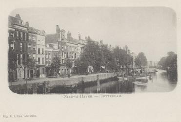 PBK-4846 Nieuwehaven noordzijde, uit het westen gezien vanaf de Roobrug.
