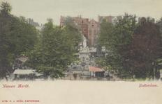 PBK-4868 Nieuwemarkt met het standbeeld Maagd van Holland, uit het westen gezien.