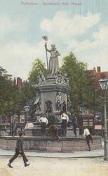 PBK-4874 Gezicht op het monument Maagd van Holland aan de Nieuwemarkt.