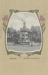 PBK-4878 Monument Maagd van Holland aan de Nieuwemarkt.