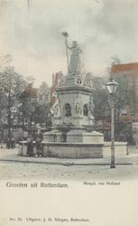 PBK-4879 Het monument Maagd van Holland aan de Nieuwemarkt.