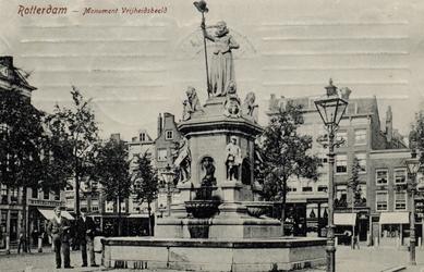 PBK-4886 Monument Maagd van Holland aan de Nieuwemarkt, opgericht ter herinnering van de feestviering op 1april 1872 en ...